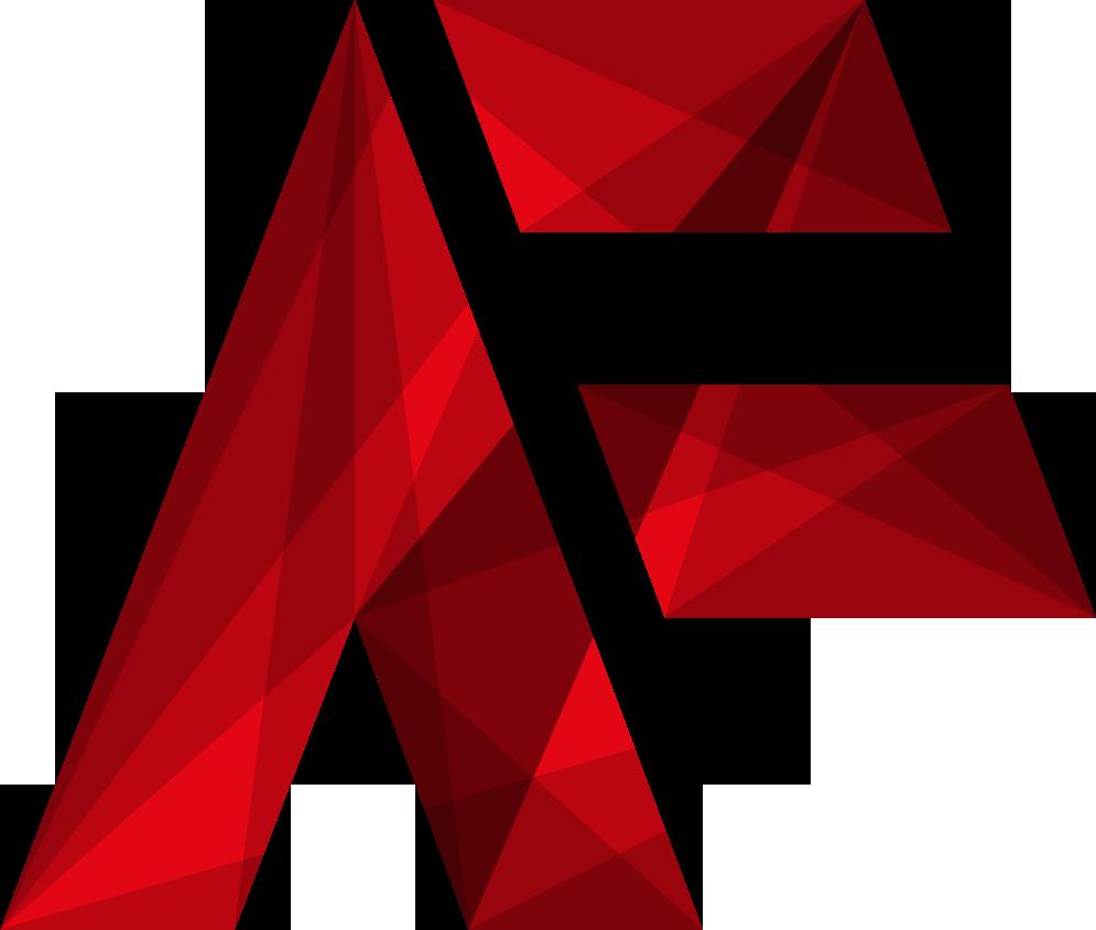 Funk.design Logo. Man kann ein AF erkennen.